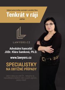 Advokátní kancelář Klára Samková s.r.o. se stala poskytovatelem právních služeb k filmu Tenkrát v ráji