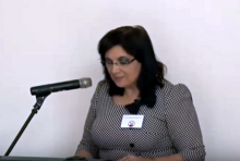 Klára Samková na ideové konferenci Islám v ČR nechceme 25. 4. 2015