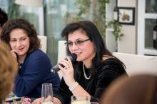 Klára Samková na networkingovém obědě Business and Professional Women
