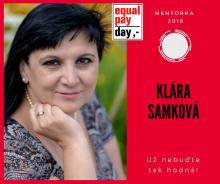 Klára Samková na Equal Pay Day 2018